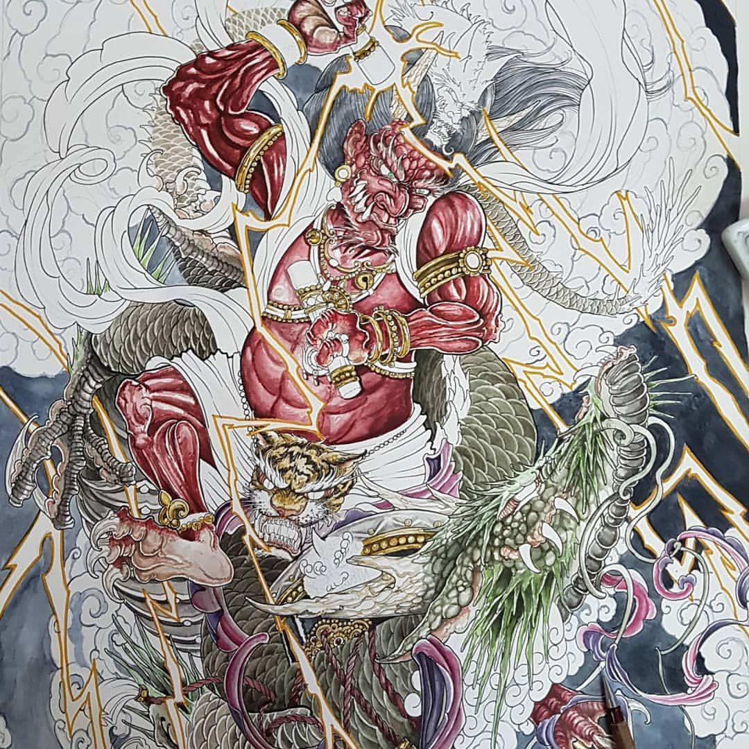 """Wasiela trên Instagram: """"#ink #inked #art #artwork #eindhoven #tattoo #ehv #draw #sketch #eindhoventattoo #pencil #pencildrawing #eindje #instaink #irezumi…"""""""