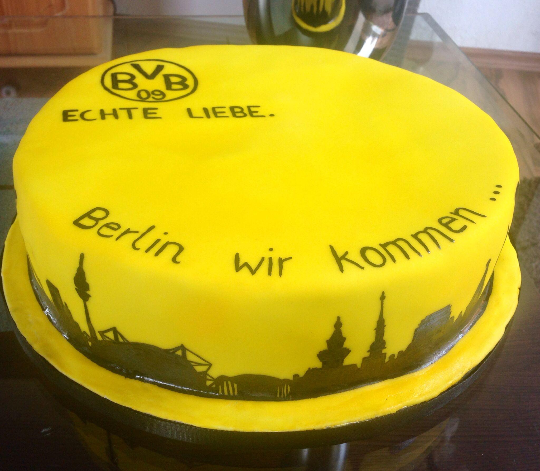 Borussia dortmund bvb fondant cake mire vashti desai for Kuchen dortmund