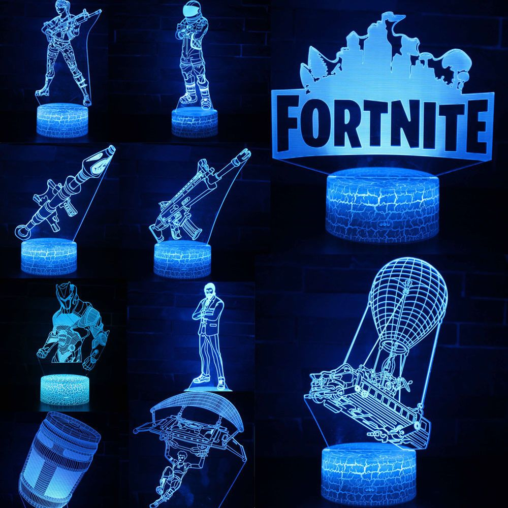 Battle Royale Game Fortnite 3d Led Night Light Action Figure Remote Xmas Lamp Fortnite Fortnitebattlero Battle Royale Game 3d Led Night Light Led Night Light
