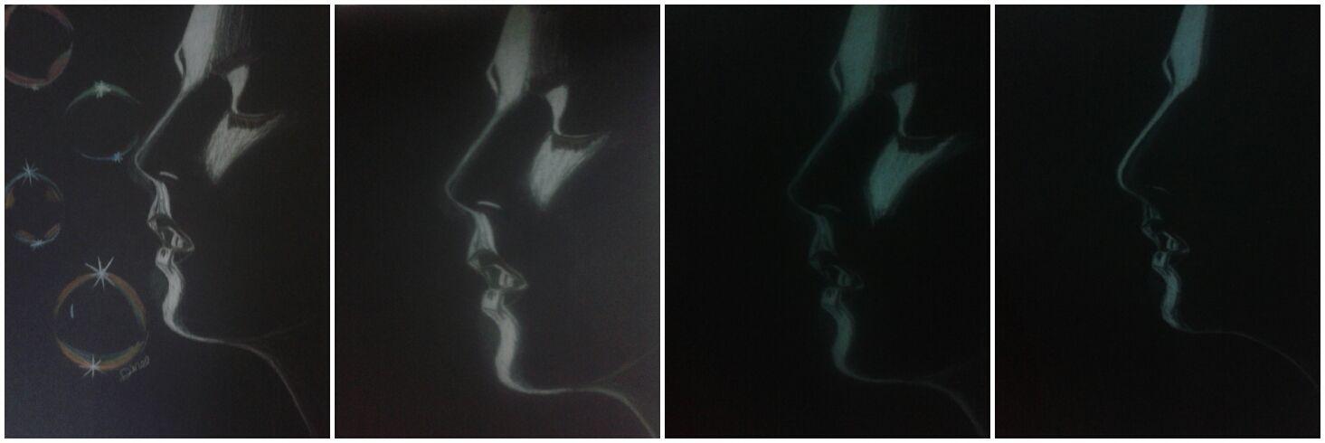 رسم دينا سيد رسم على الورق الاسود و قلم الفيبركاستل الابيض Abstract Artwork Art Abstract