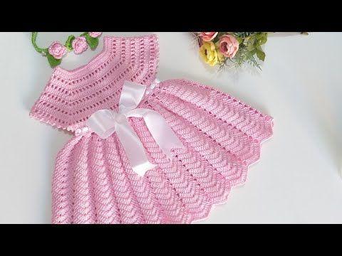 Como fazer um Vestido em tecido e crochê para Bebe YouTube