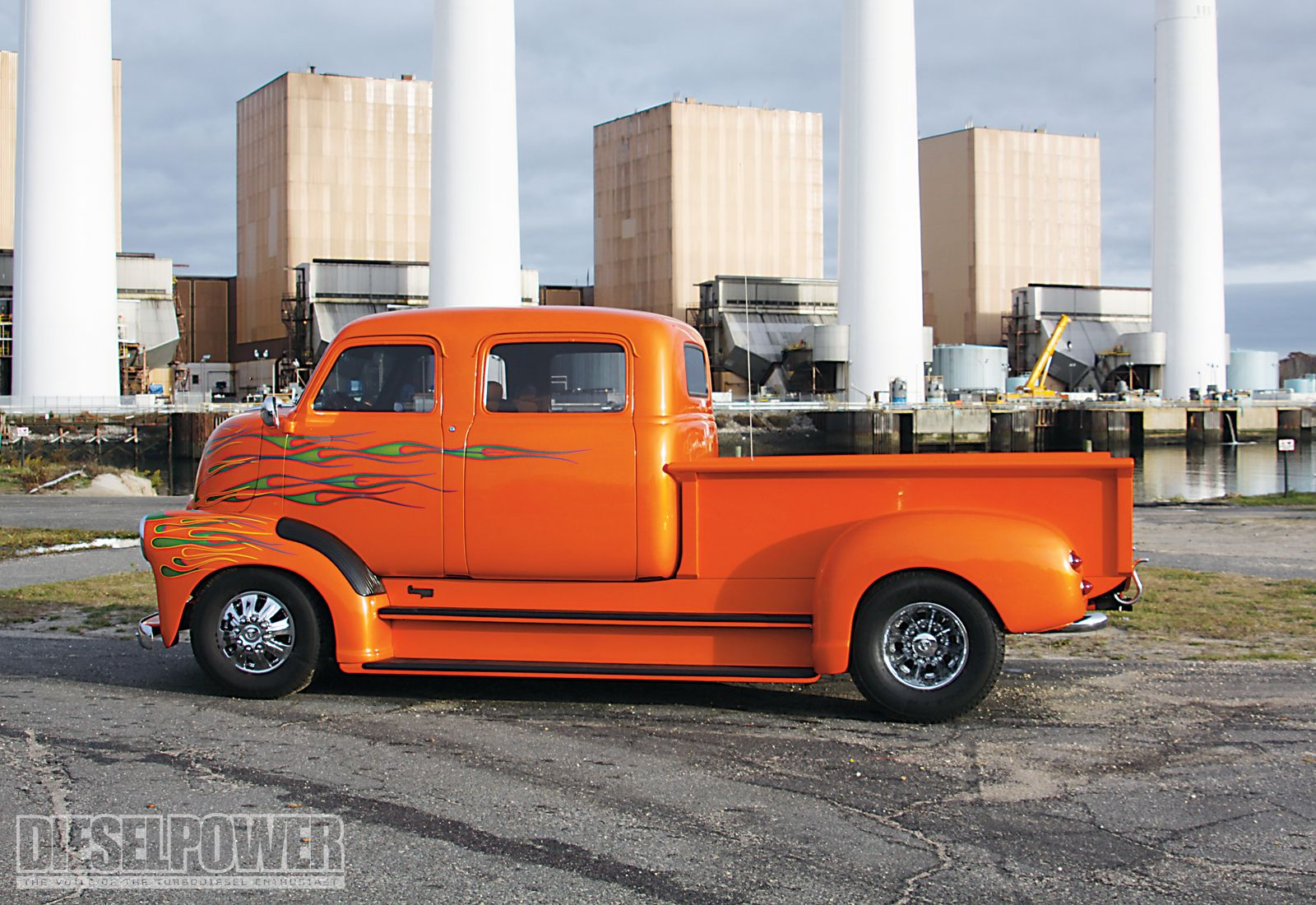 Old GMC Cabover Trucks | 1949 chevy coe truck left side angle ...
