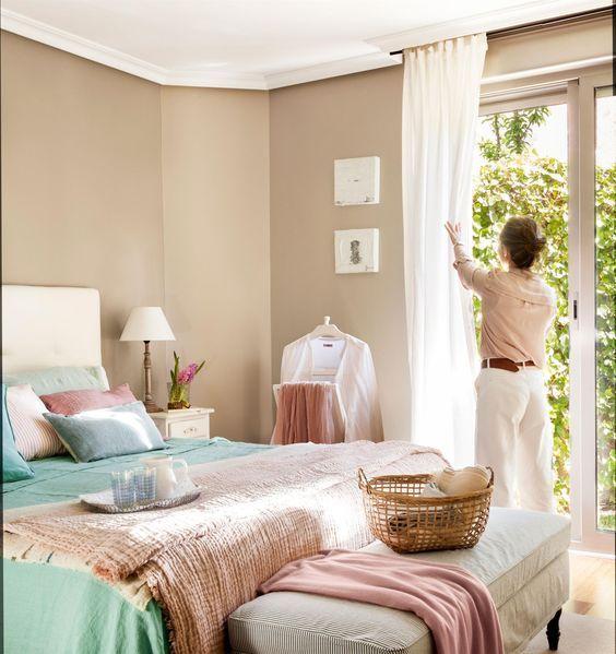 Decora o de janelas com cortinas decora o decora o for Cortinas vintage dormitorio
