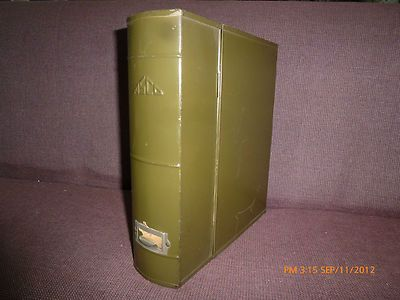 NEAT IDEA!!!  VINTAGE ASCO GREEN STEEL LETTER FILE BOX W/ LATCH ORIGINAL ALPHABET DIVIDE | eBay$9.95