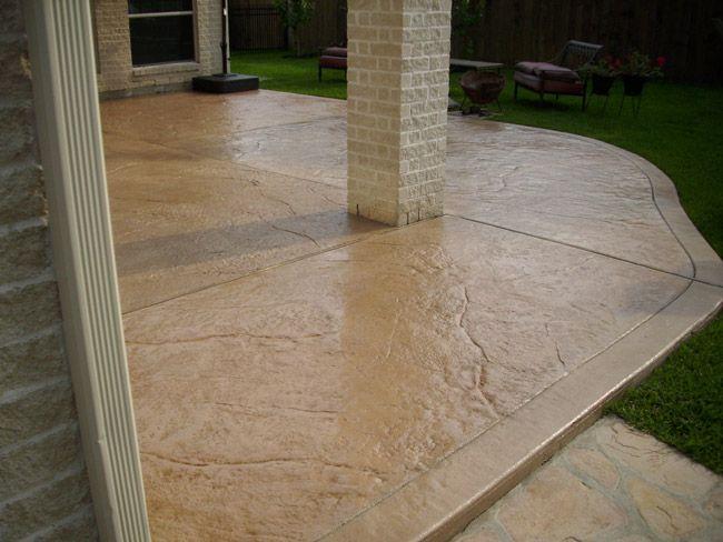Stamped Concrete   Houston Concrete Countertops, Polished Concrete .