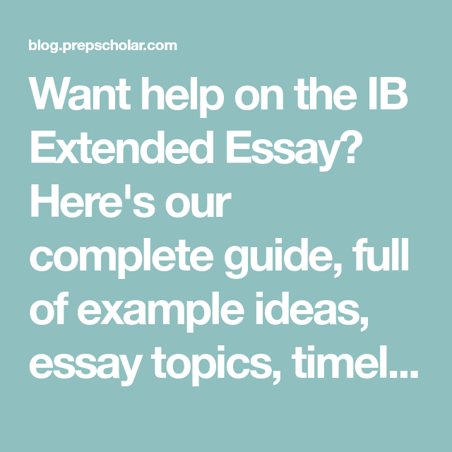 ib extended essay topic ideas