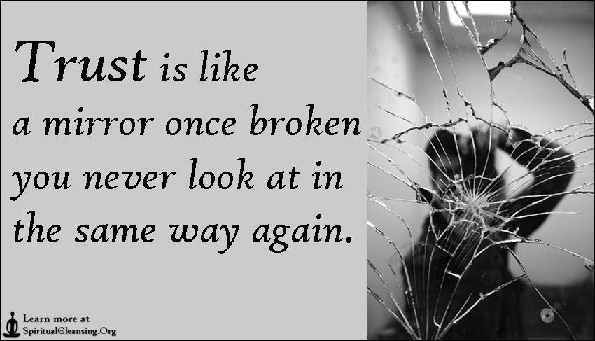 Once Trust Is Broken Quotes  QuotesGram | Quotes | Broken