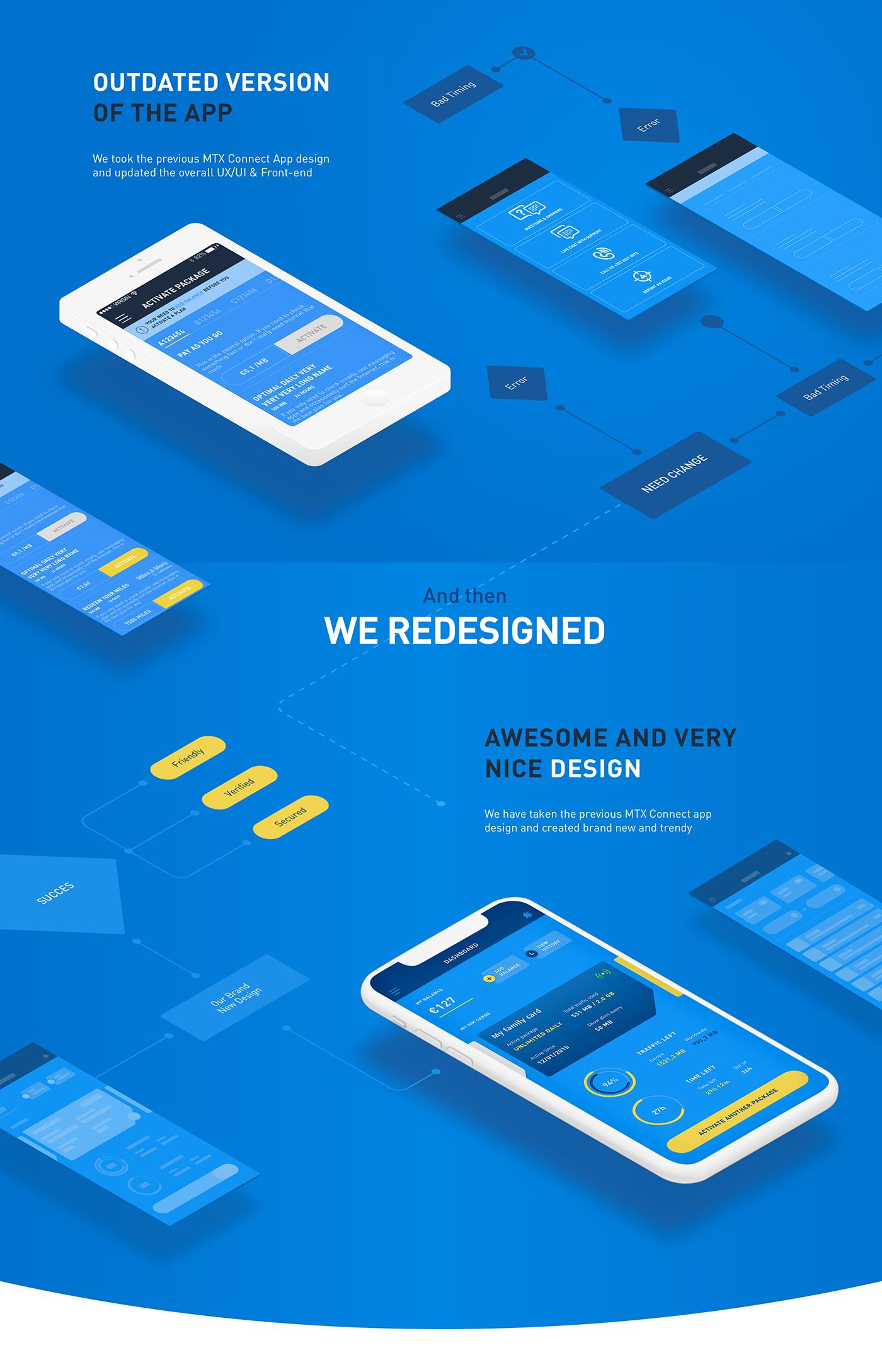 """다음 Behance 프로젝트 확인 """"MTX Connect — iOS and Android app"""