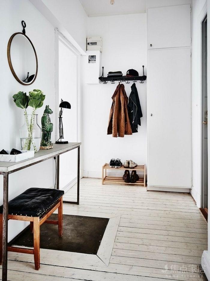 1001 ideas de recibidores originales con encanto for Espejo redondo pequeno