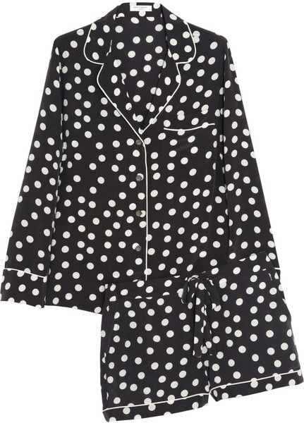 EQUIPMENT Lilian Polkadot Washed Silk Pajama Set - Lyst  f5f2d460e