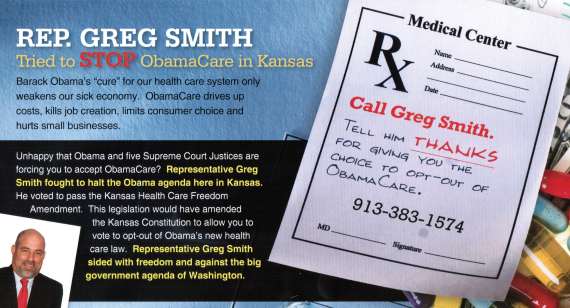 Afp Kansas 1 Mailers Mislead On Obamacare Opt Out Amendment