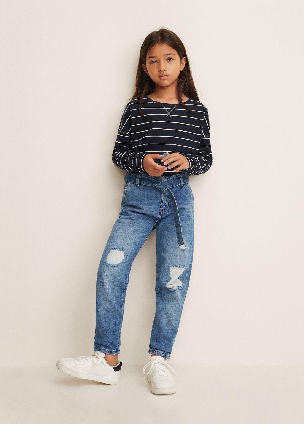 Ripped details boyfriend jeans Girls in 2020   Boyfriend
