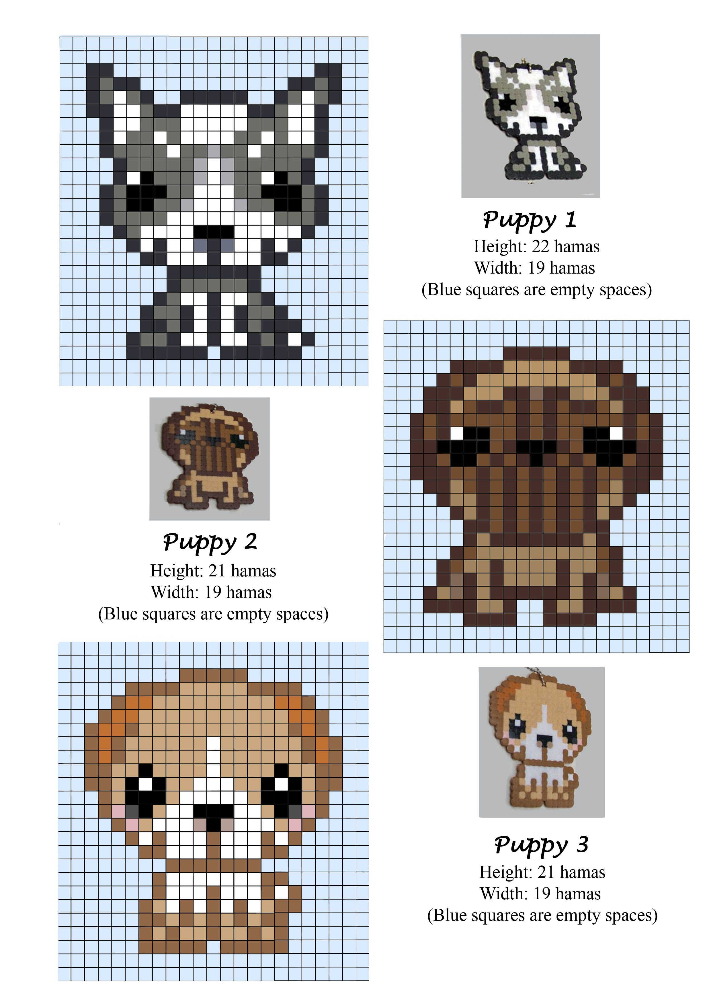 Puppies - Puppy - Dogs - cachorros - hama beads - pattern | Hama ...