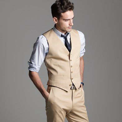 J Crew Suit Vest In Italian Chino Like This Suit For My Brother S