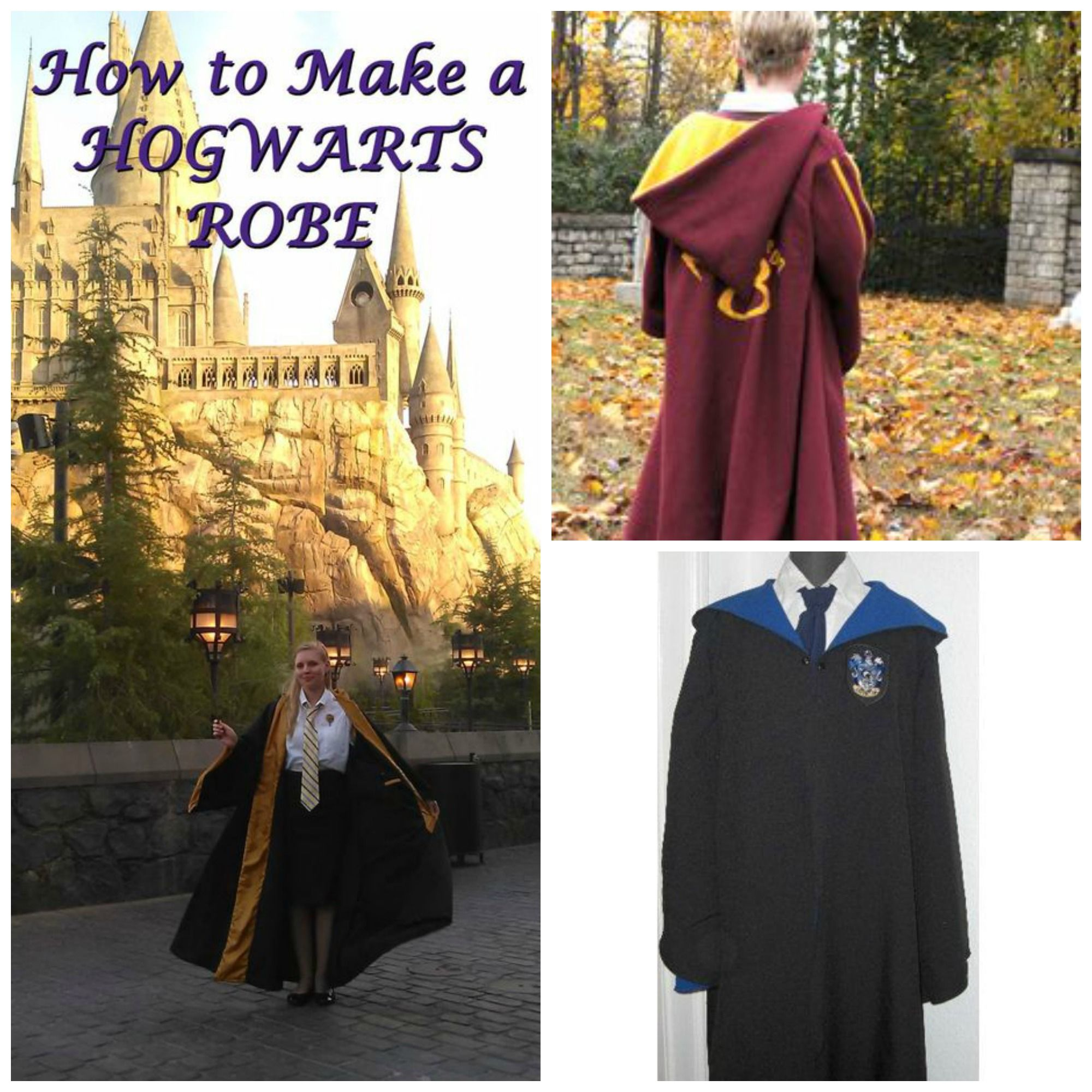 Harry Potter Hogwarts robes are easy to find but it\'s much more fun ...