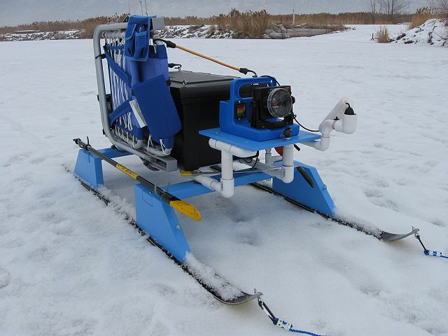 My homemade 15 sled aka the smitty sled ice fishing for Ice fishing sleds