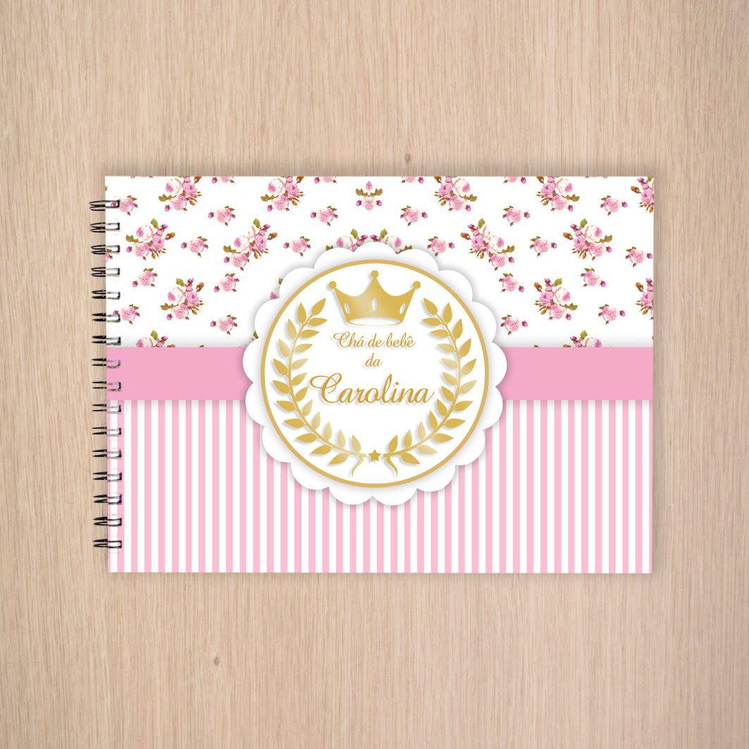 Caderno para assinatura - Livro de mensagens Tamanho 15x21cm Caderno de capa  dura e as folhas 149f9665164
