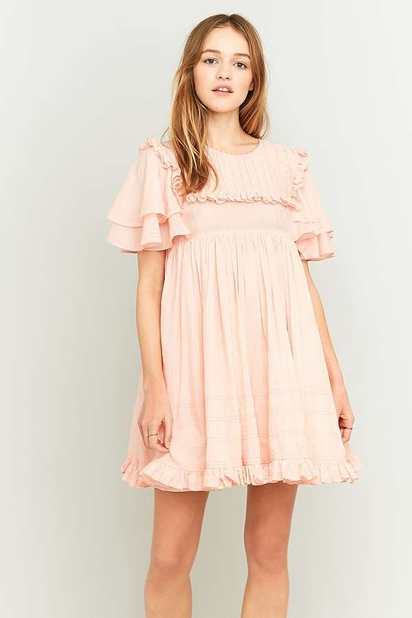 12275b9a2b1f8 Manoush Pink Ruffle Babydoll Dress   שמלות לקיץ   Babydoll dress ...
