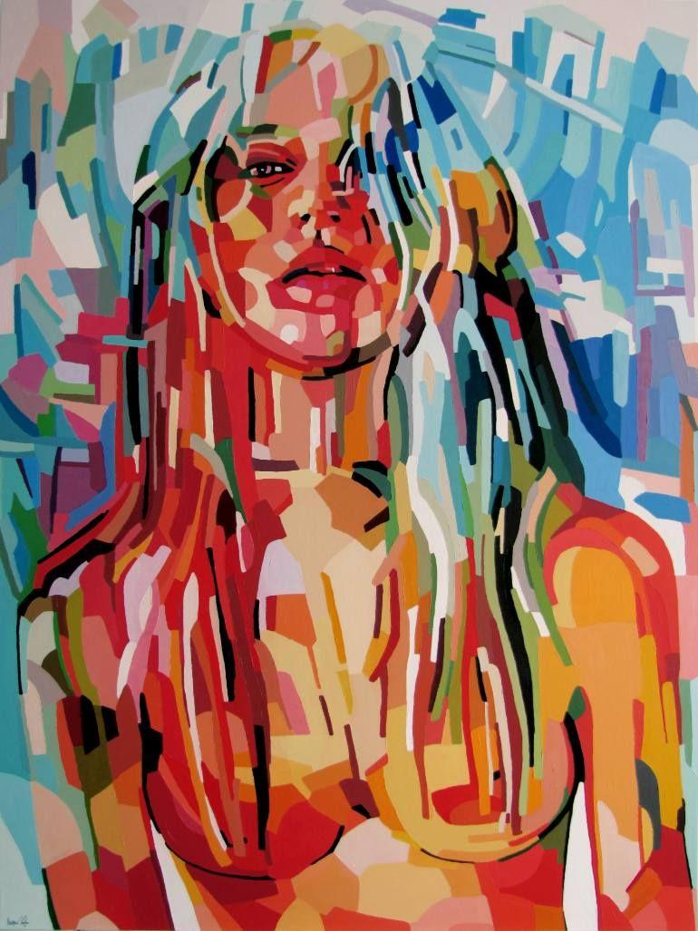 "Saatchi Art Artist Noemi Safir-Dolev; Painting, ""Look at me (SOLD)"" https://noemisafir.carbonmade.com/"