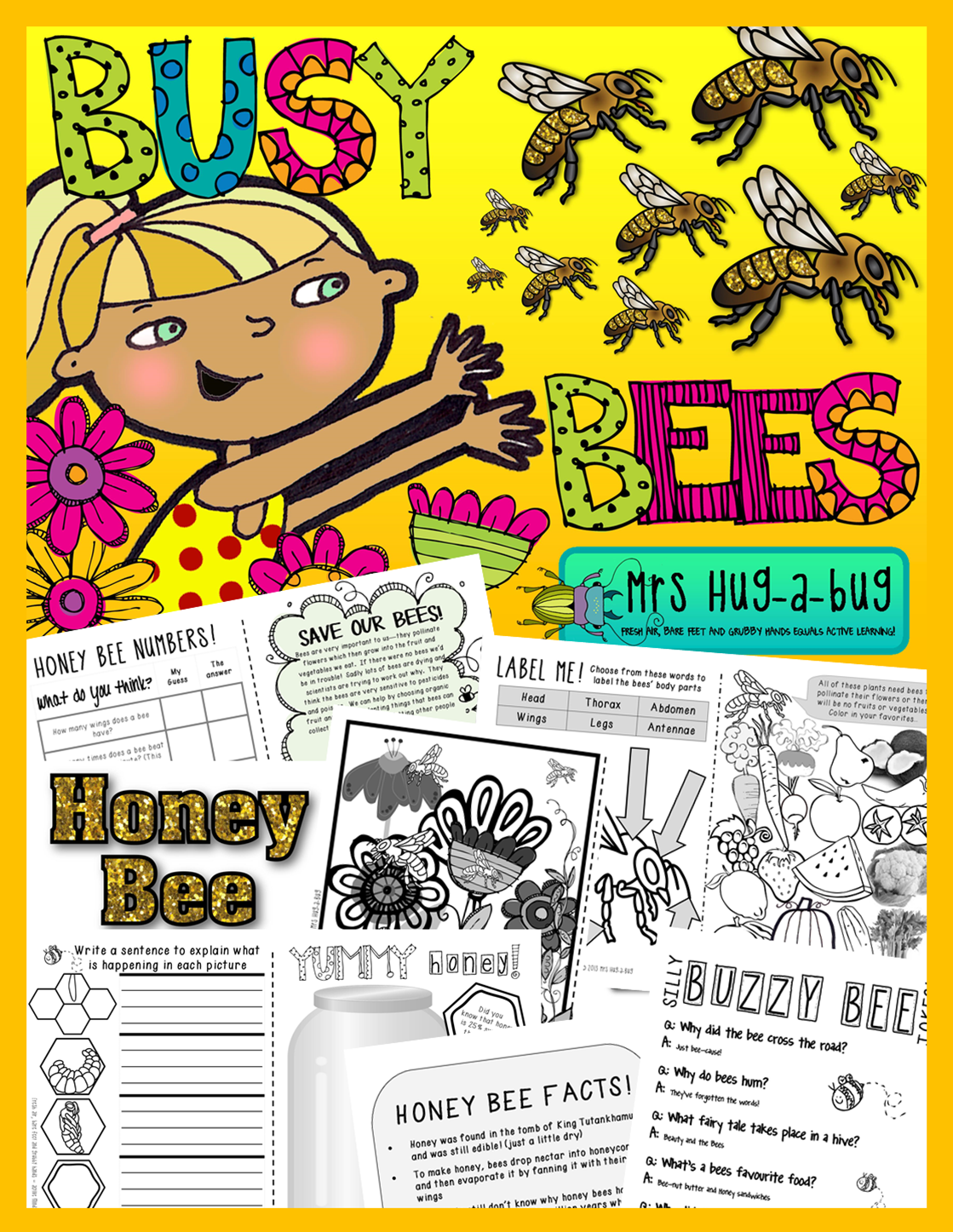 Bees A Booklet Of Activities Celebrating Honey Bees Bumble Bees Amp Wasps