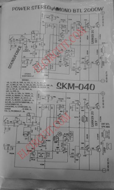 300w power amplifier circuit with 2n773 schematic diagram on