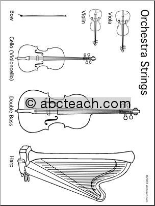 String Instrument Coloring Pages | string instrument coloring pages ...