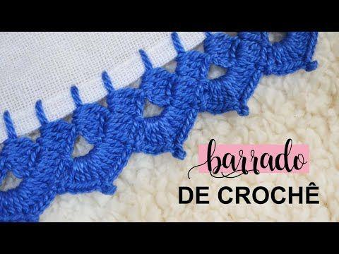 Barrado De Croche Carreira Unica Passo A Passo Youtube Em 2020