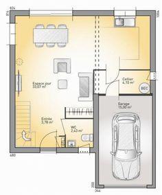 Plan maison neuve construire rdc maisons france for Plan maison suite parentale rdc