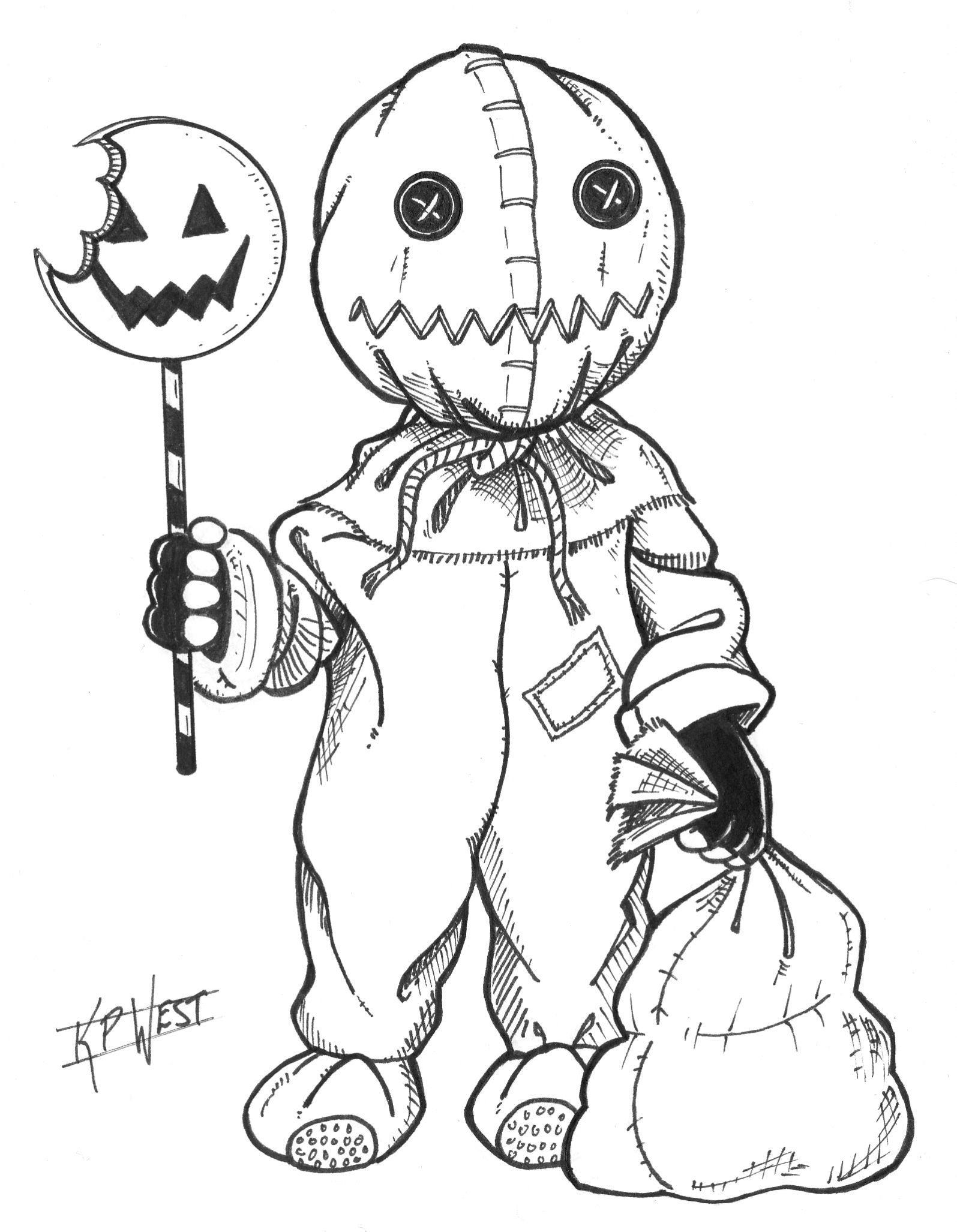 Day 02 Of Monster Month 2014 Sam In 2020 Halloween Drawings