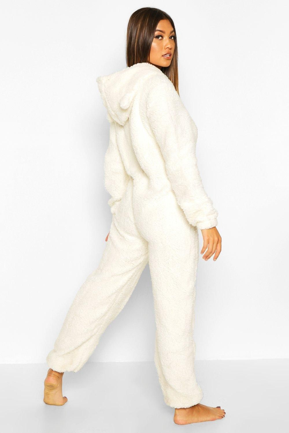 Super Soft Fleece Onesie  boohoo  Onesie pajamas women, Pajamas