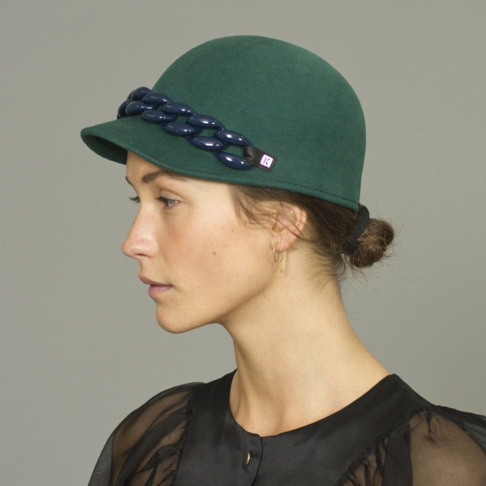 Kenzo Hat with Leather - Wood Wood