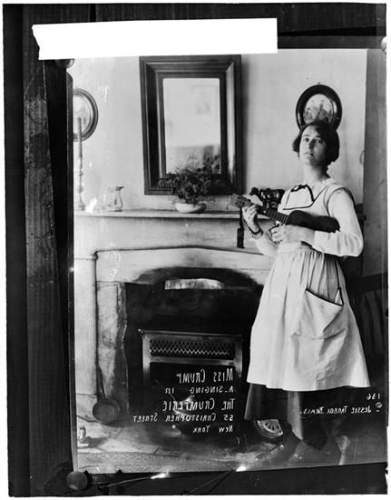 Miss Crump, The Crumperie, 55 Christopher St. ca. 1908 - 1916.