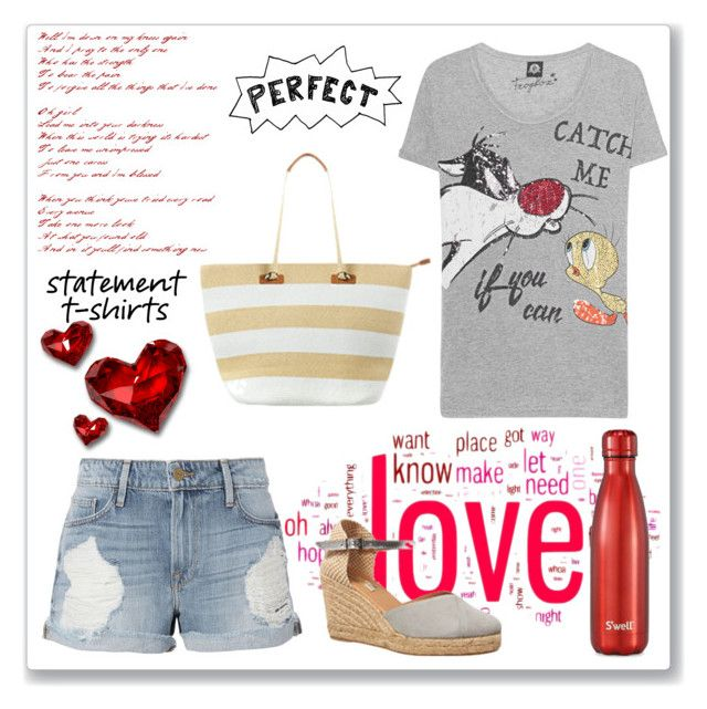 """""""Statement T-Shirt"""" by sukia ❤ liked on Polyvore featuring Frogbox, Frame, Phase Eight and S'well"""