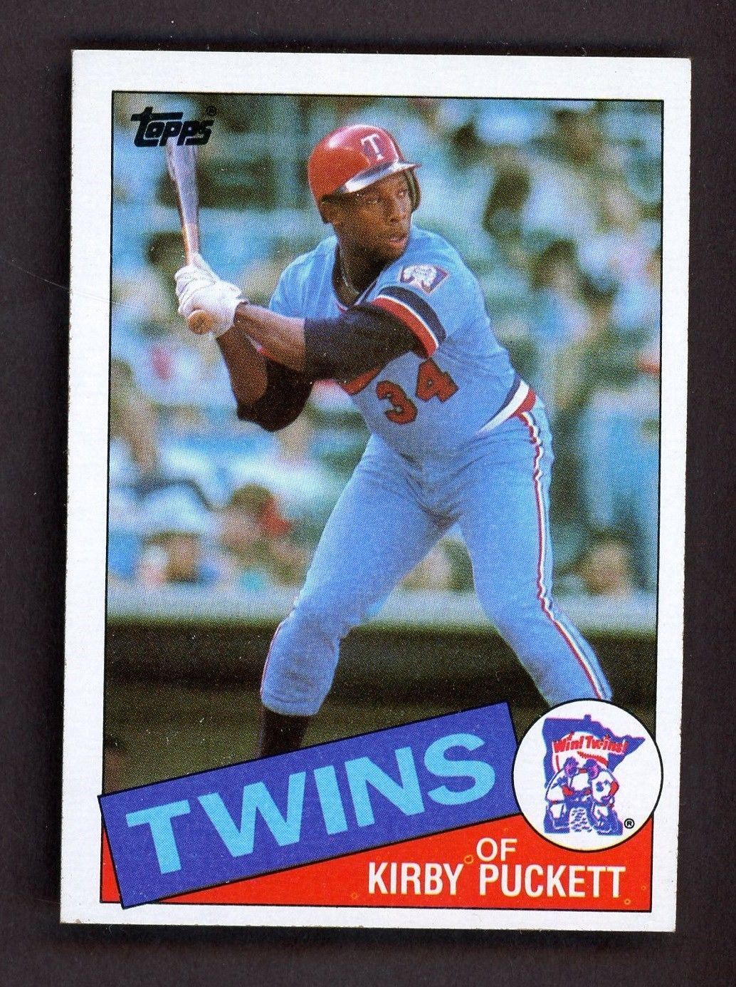 1985 topps 536 kirby puckett minnesota twins rc rookie