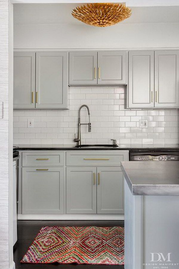 83 cool kitchen cabinet paint color ideas house grey kitchen rh pinterest com