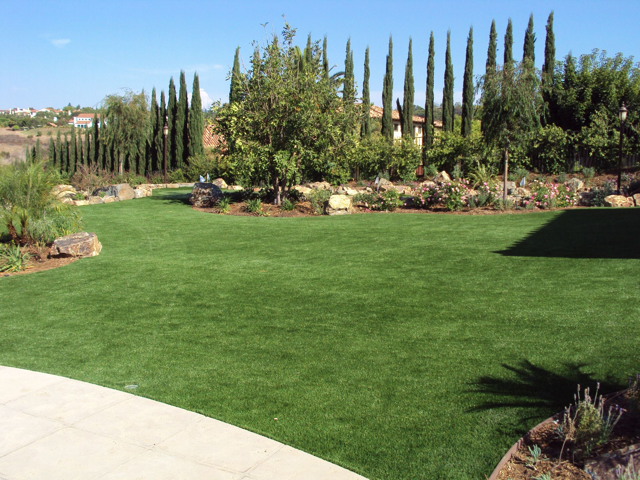 after easyturf custom putting green complete with pet friendly
