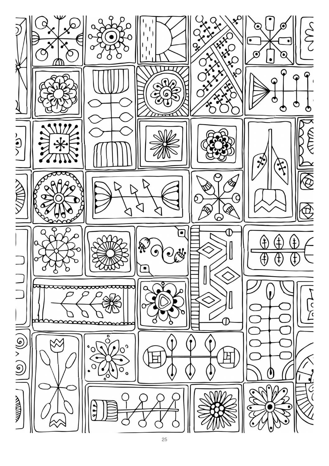 Mind massage colouring book for adults pattern and images
