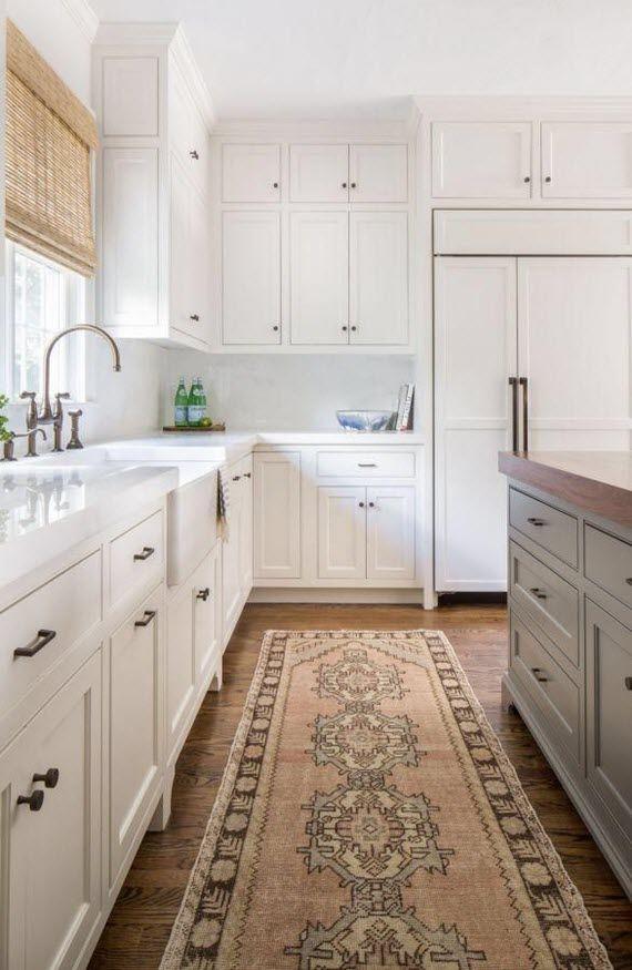 tribal rug in kitchen // Jamie Keskin Design | KITCHENS | Pinterest