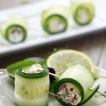 Cucumber Feta Rolls!! Definitely have to try these for snacks