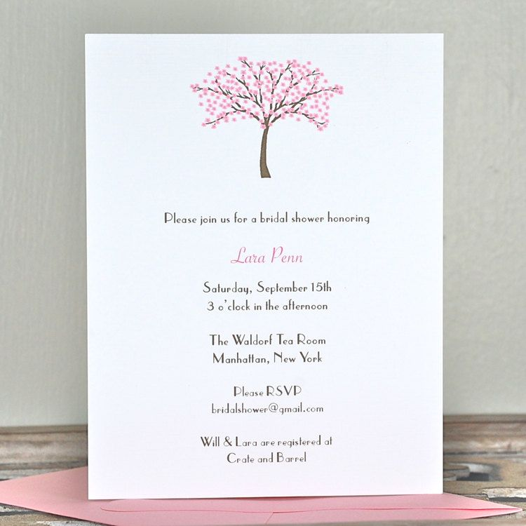 Simple and elegant design Bridal Shower Pinterest Simple - bridal shower invitation samples