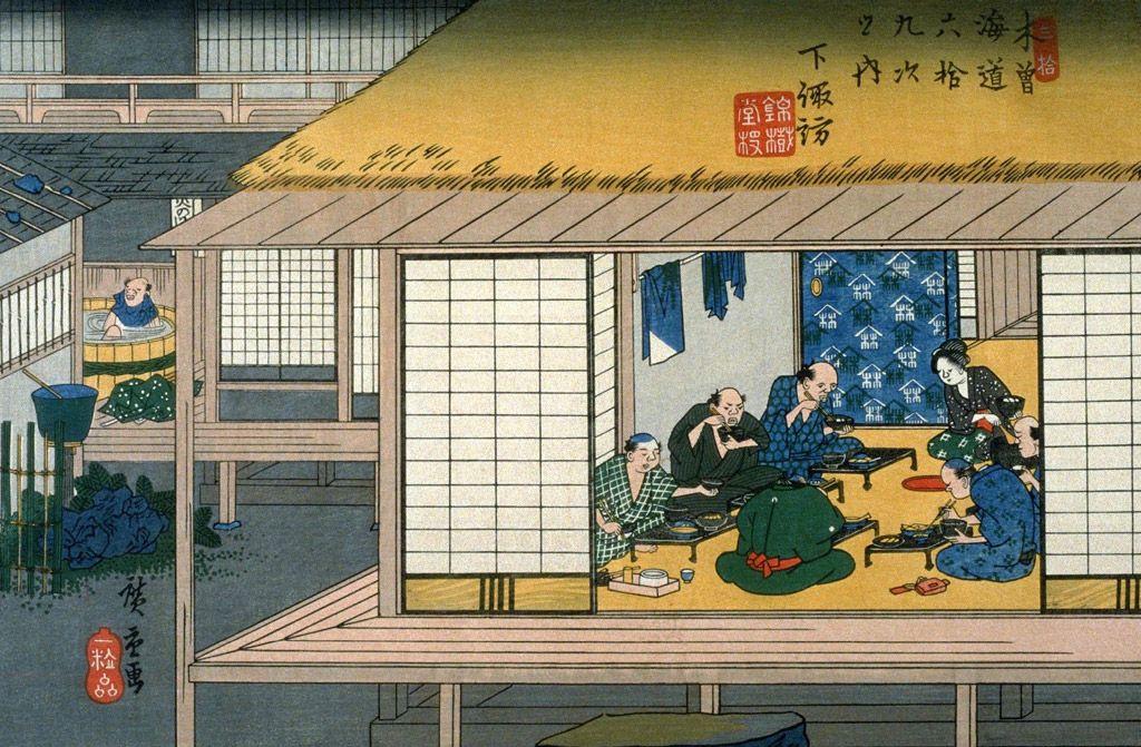 歌川広重 - 下諏訪 (1835 - 1839)