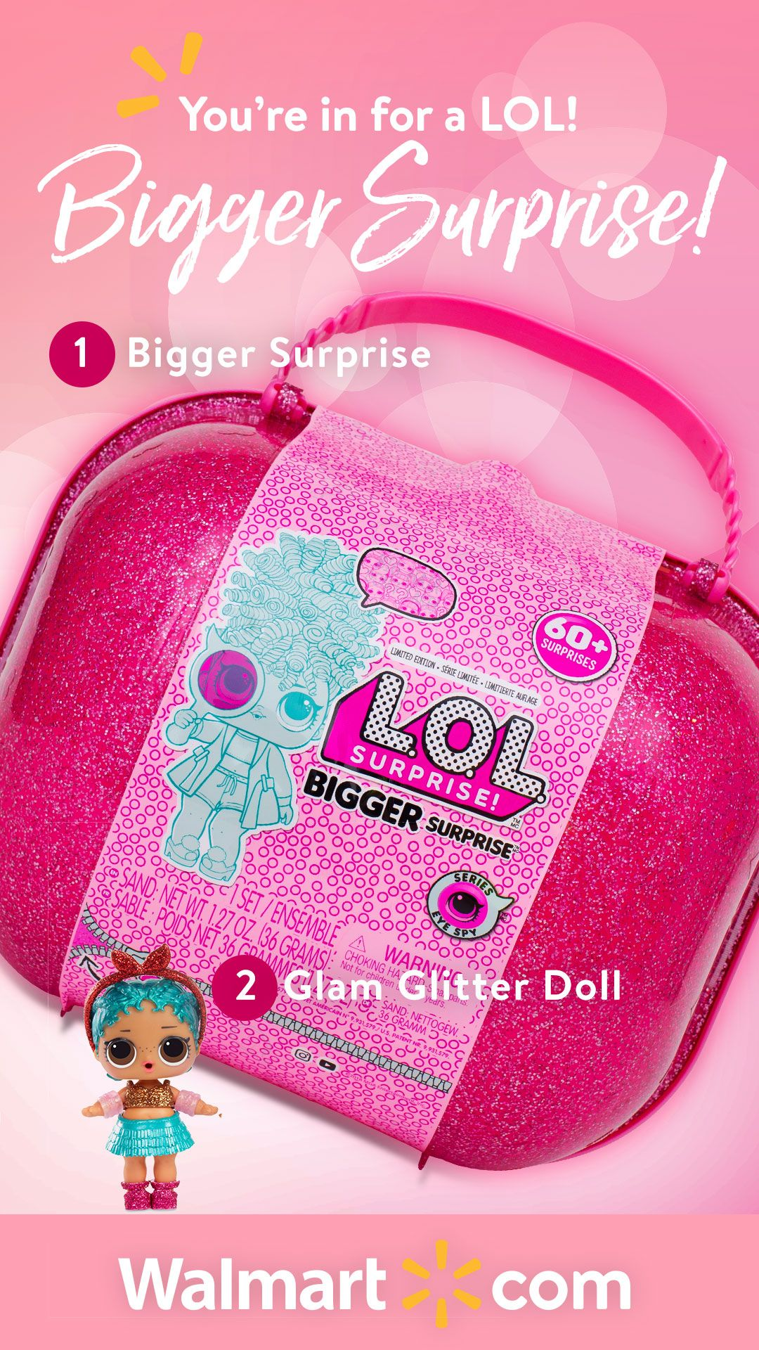 a950572f714d What s better than a surprise  A LOL! Bigger Surprise! Find all the new and  hottest L.O.L. Surprise! collectibles at Walmart.
