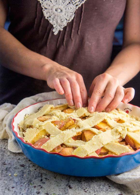 Paleo Gingered Peach Pie Ginger Peach Peach Pie Pie