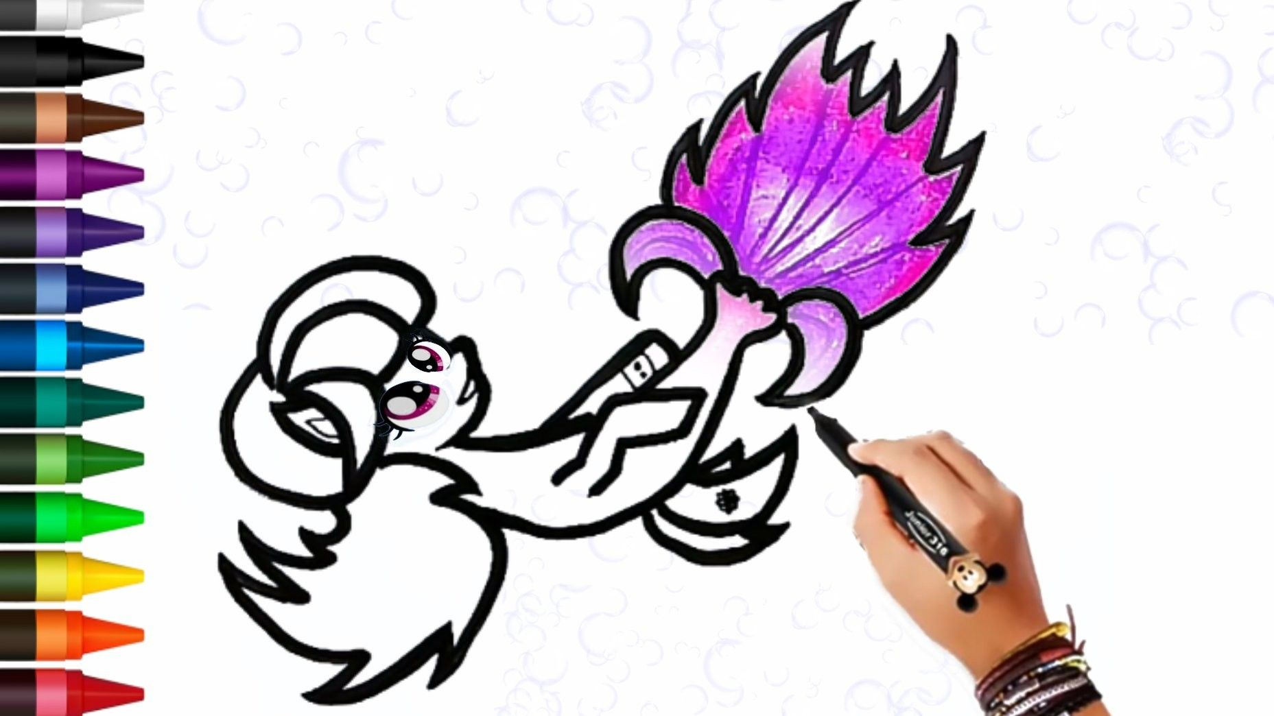 Menggambar Dan Mewarnai My Little Pony Kuda Poni My Little Pony Gambar Cara Menggambar
