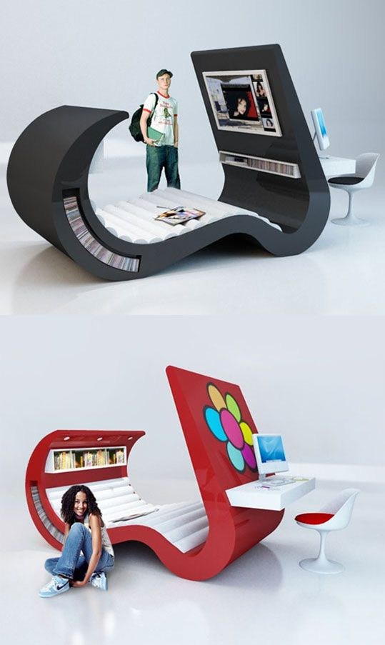 50 Awesome Bedroom Ideas: Futuristic Bed Design That Has Everything A Geek Could
