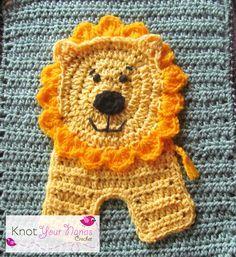 Lion applique (pattern) on Knot Your Nana's Crochet