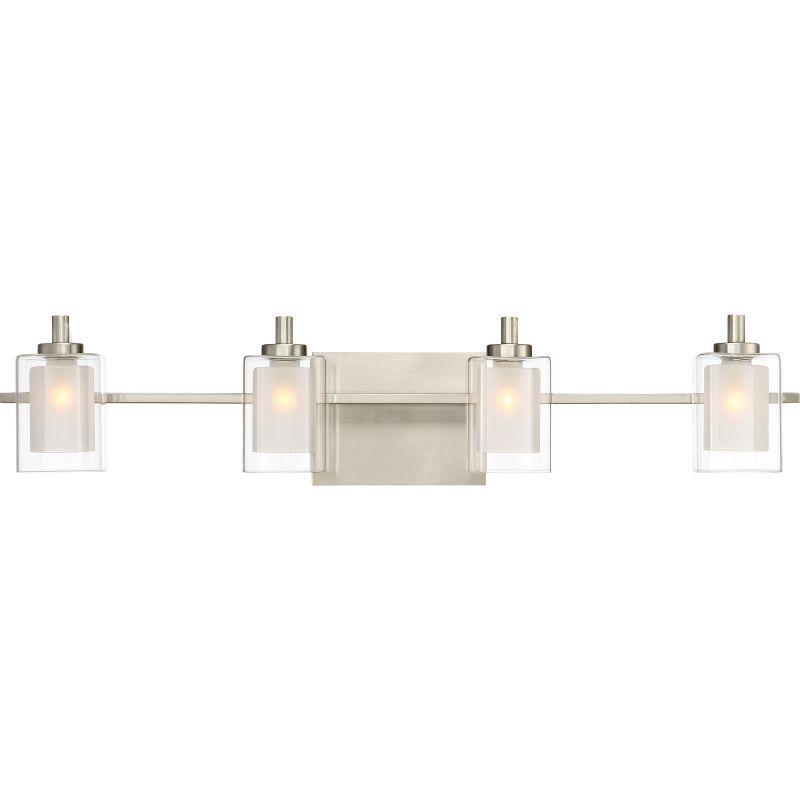 Quoizel KLTLED Kolt Light Wide Bathroom Vanity Lights With - 4 light bathroom fixture brushed nickel
