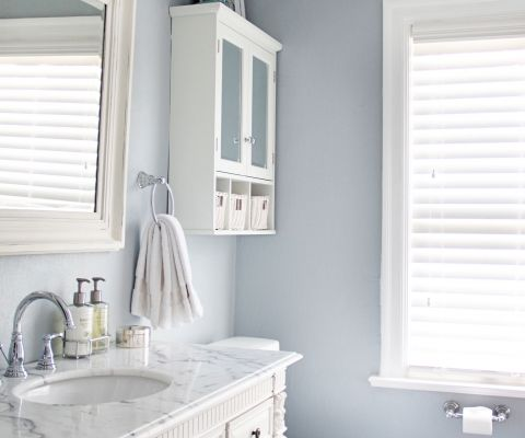 bathroom paint color ideas pinterest sherwin williams krypton gray blue bathroom involving 22279
