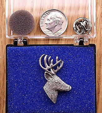Side View Deer Head Pin  Cap Pin  Tie Tac Made by OnTargetJewelry, $17.99