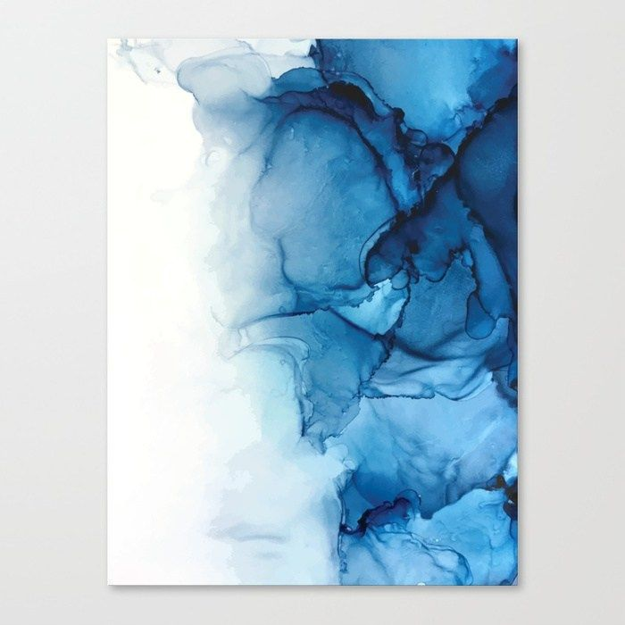 Buy Blue Tides - Alcohol Ink Painting Canvas Print by elizabethschulz. Worldwide shipping available at Society6.com. Just one of millions of high quality products available. #alcoholinkcrafts